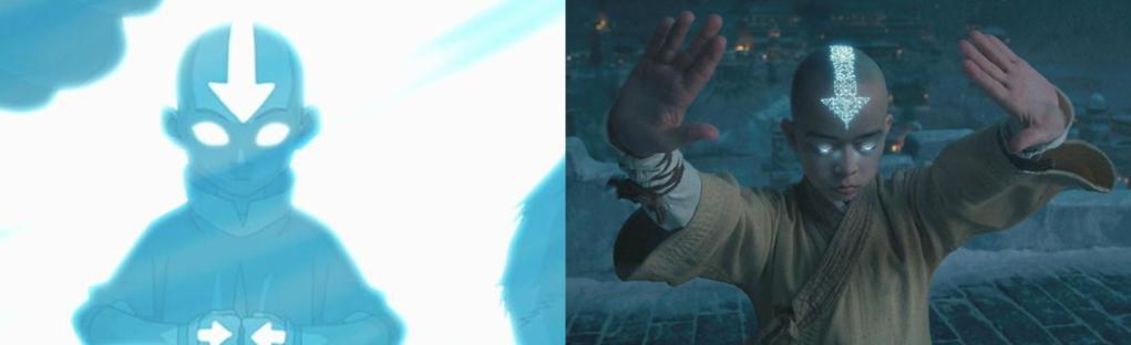 'Avatar: la leyenda de Aang' (la serie) vs. 'Airbender, el último guerrero' (la terrible película).