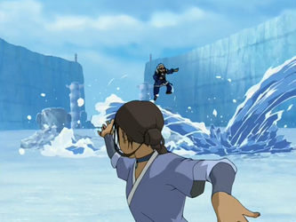 Katara, maestra del agua y de los personajes más fuertes de la serie.