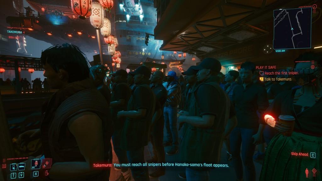 Imagen tomada dentro del juego en la que se pueden observar cuatro personajes exactamente iguales.