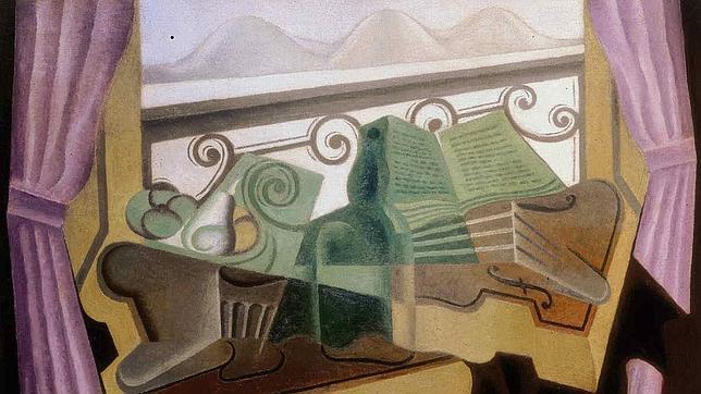 La 'fenêtre aux collines' de Juan Gris (1923).